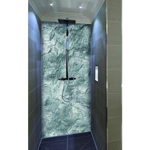 """Duschrückwand mit Motiv 90x200cm Aluverbund 3mm """"Steinstruktur"""" Duschpaneel, Duschwand ohne Fliesen DU164"""