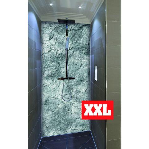 """Duschrückwand XXL mit Motiv 120x220cm Aluverbund 3mm """"Steinstruktur"""" Duschpaneel, Duschwand ohne Fliesen DU164"""
