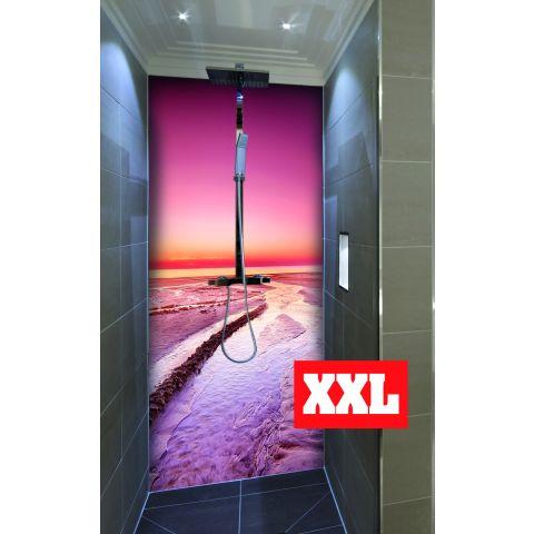 """Duschrückwand XXL mit Motiv 120x220cm Aluverbund 3mm """"Strand auf Jütland"""" Duschpaneel, Duschwand ohne Fliesen DU350"""