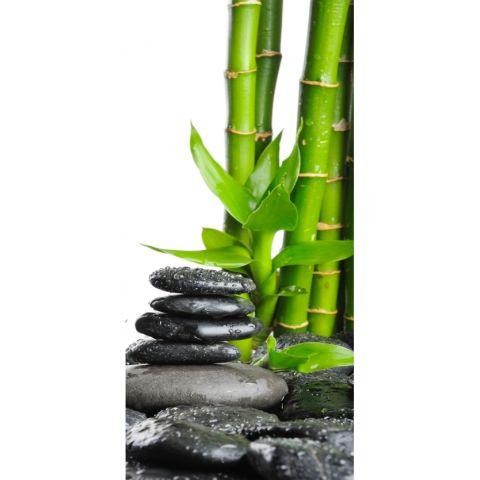 Duschrückwand Bambus und Steine Basic