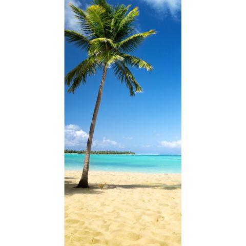Duschrückwand Palme am Strand Basic
