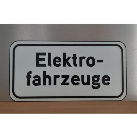 "Hinweis-Schild ""Elektrofahrzeuge"""