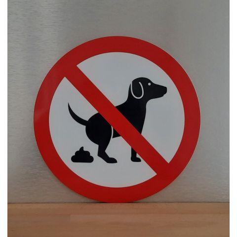 "Schild ""Kein Hundeklo"""
