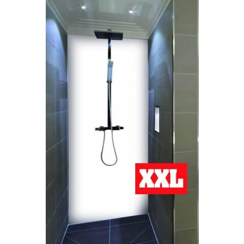 "Duschrückwand XXL mit Motiv 120x220cm Aluverbund 3mm ""Opalweiß"" Duschpaneel, Duschwand ohne Fliesen"