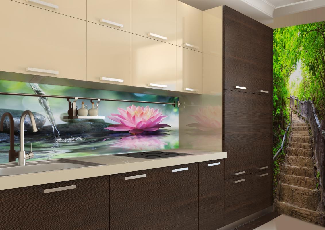 Küchenrückwand mit LED Beleuchtung