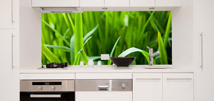 Küchenrückwand Grashalme