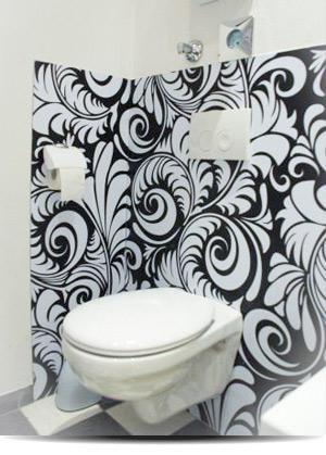 Toilettenrückwand
